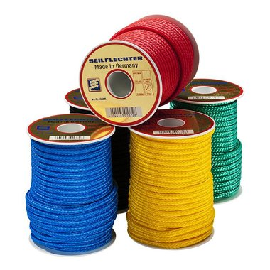 Surf leash, 4mm, Polypropylene, 20m on spool, braided, assorted, 130 daN