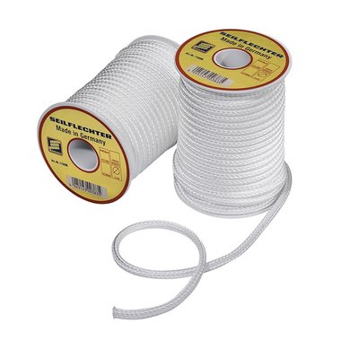 Fibron cord, 5mm, 20m on spool, braided, white, 410 daN