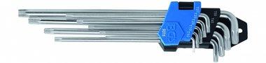 9-piece L-Type Key Set, T-Star, extra long, 1.5 - 10 mm