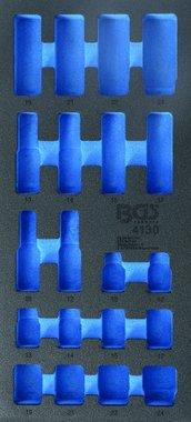 1/3 Tool Tray (408x189x32 mm), empty, for 20-piece Impact Socket Set 10-24 mm