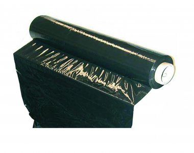 Plastic Stretch Foil, black