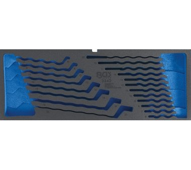 Foam tool tray for Item no. 3312, empty: for spanner set