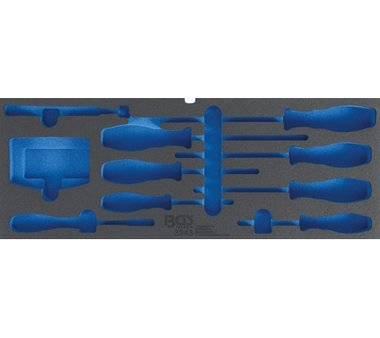 Foam tool tray for Item no. 3312, empty: for screwdrivers, bit sets and magnet lifters