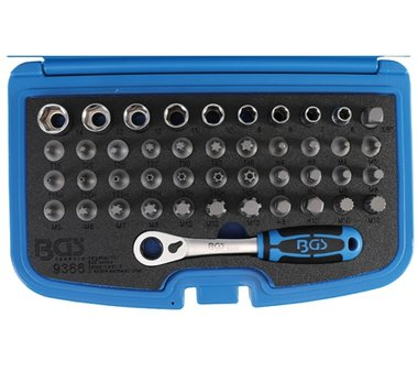 Push through bit and socket set | 44 pcs.