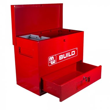 Metal tool box with drawer