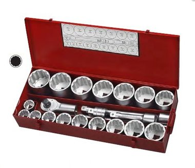1 12pt. Socket set 21pc