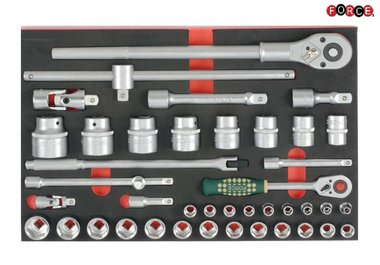 Foam 1/2-3/4 Socket Combination set 42pc