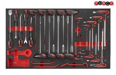 Foam Hex nut driver & Hex-ball grip key set 29pc