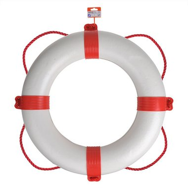 Lifering Ø600mm, white - red