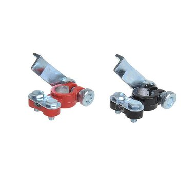 Battery terminal clamp set (+) and (-) with quick release red/black