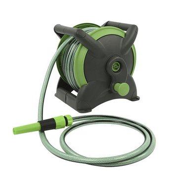 Garden hose 15m on portable reel