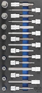Tool Tray 1/3: Bit Socket Set  12.5 mm (1/2 inch)  internal hexagon  24 pcs.