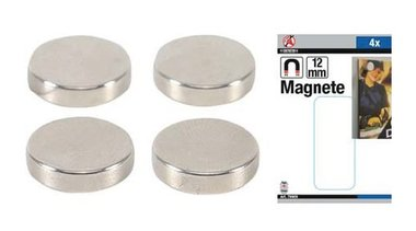 Magnet set extra strong diameter 12 mm 4 pcs