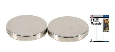 Magnet set extra strong diameter 18 mm 2 pcs