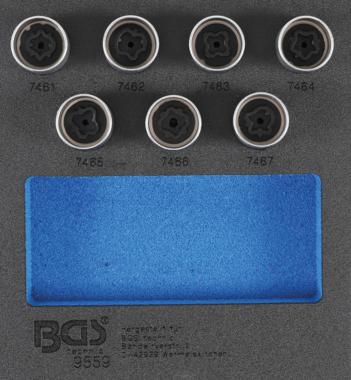 Rim Lock Socket Set for Opel, Vauxhall (Version D) 7 pcs