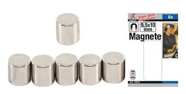 Magnetic set extra strong diameter 9.5 mm 6 pcs