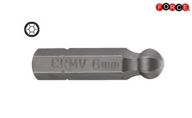 Inbus round head bit 1/4 -25mmL 3/16