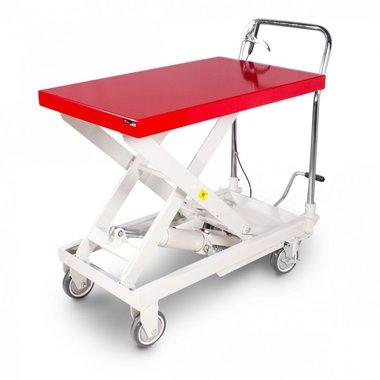 Hydraulic scissor lift table on wheels 500 kg