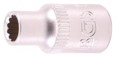 Socket, 12-point 6.3 mm (1/4) drive 7/32