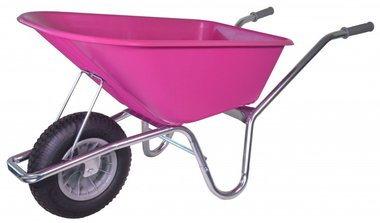 Garden wheelbarrow galvanized frame 100 Liter