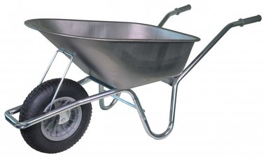 DIY wheelbarrow galvanized frame 85 Liter