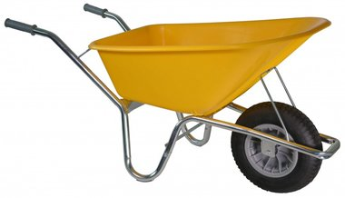 Construction barrow Basic PE 100 L yellow DOOS