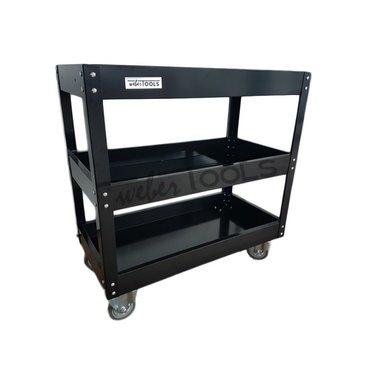 Three Shelf Steel Service Cart