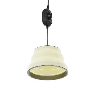 Hanging LED lamp foldable silicone white Ø25cm