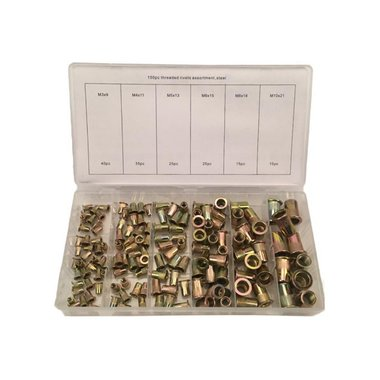 Steel Rivet Nuts Assortment 150pc