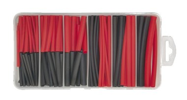 Heat shrink black / red