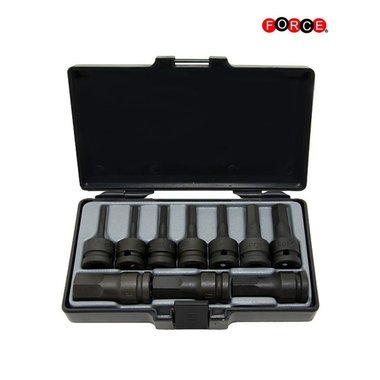 1/2 Hex impact socket bit set SAE 10pc