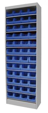 Storage bin cabinet without door 650x285x1920