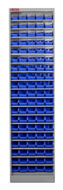 Steel cabinet with storage bins boxes 95