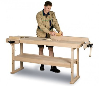 Wooden workbench 1340x500 mm
