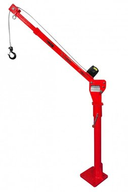 Mobile crane with electric winch