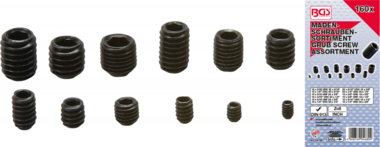 Grub Screw Assortment  Inch Sizes  160 pcs.