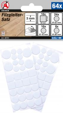 Felt Pads Set  white  64 pcs.