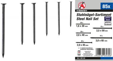 Steel Nail Assortment  85 pcs.