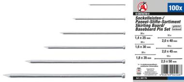Skirting Board / Baseboard Pin Set  100 pcs.