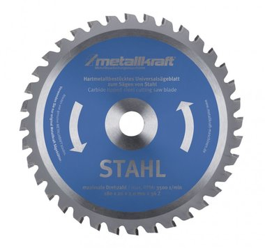 TCT circular saw blades for steel, teeth-48