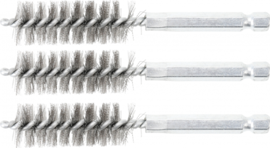 Steel Brush | 16 mm | 6.3 mm (1/4) Drive | 3 pcs.
