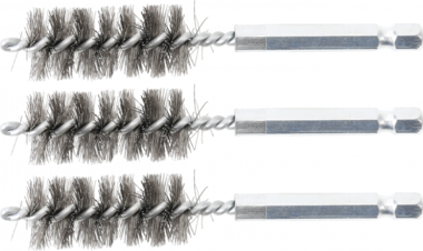 Steel Brush | 17 mm | 6.3 mm (1/4) Drive | 3 pcs.