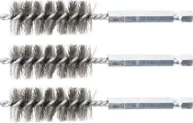 Steel Brush | 18 mm | 6.3 mm (1/4) Drive | 3 pcs.