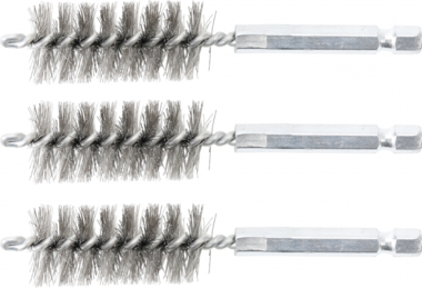 Steel Brush | 19 mm | 6.3 mm (1/4) Drive | 3 pcs.