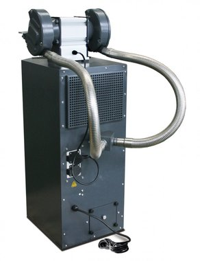 Base with cyclone aspiration for grinding machine