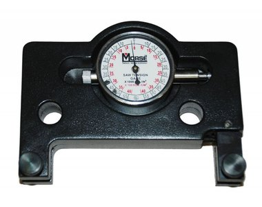 Saw blade tension gauge