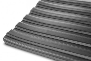 Rubber on a roll 10mx1200mmx6mm wide rib black