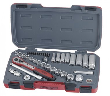 Cap and bit set 3/8, 8-21mm 39-piece