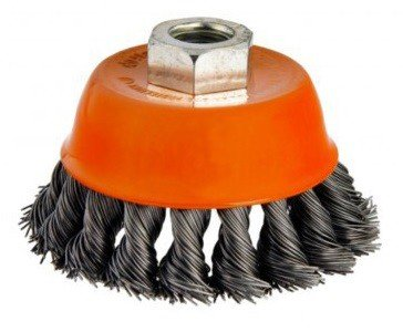 Steel brush bowl shape twisted diameter 75mm