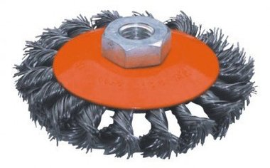 Flat steel brush twisted diameter 115mm